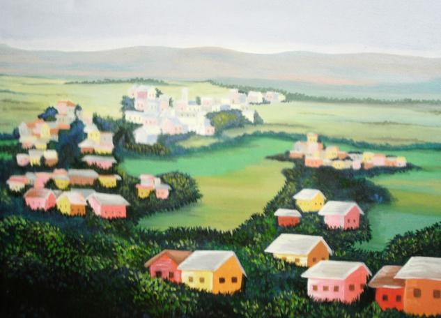 Irish farmer town Paisaje Óleo Lienzo