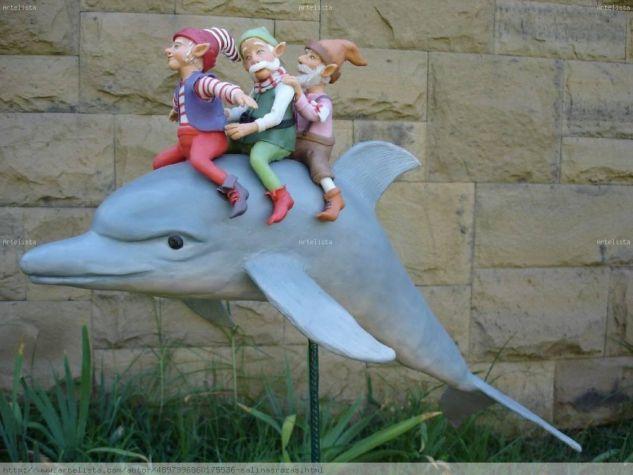 gnomos y delfín