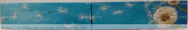 Aire Lienzo Acrílico Floral