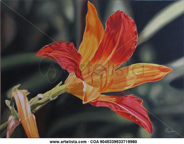 FLOR DEL SIGLO XX Lienzo Óleo Floral