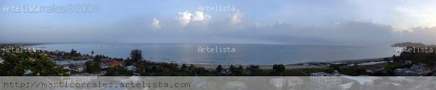 Panoramica de la Bahia de Tela Viajes Color (Digital)