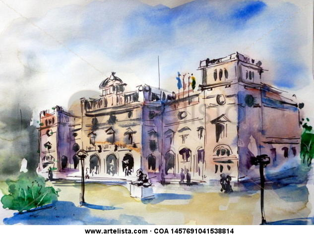 Ayuntamiento de Sabadell (Barcelona) Paper Mixed media Landscaping
