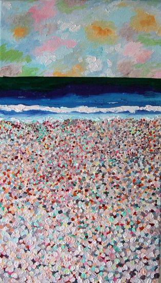 La playa Oil Canvas Marine Painting