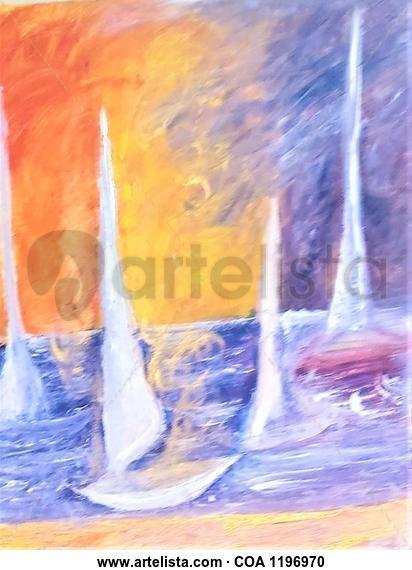 Barca Marine Painting Acrylic Canvas