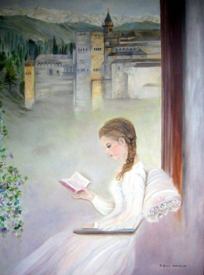 Zorahida (Cuentos de la Alhambra) Óleo Lienzo Retrato