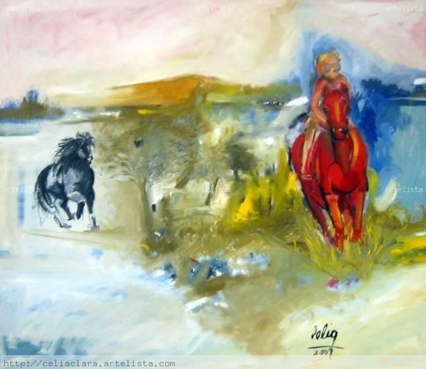 Por la vida Oil Canvas Landscaping