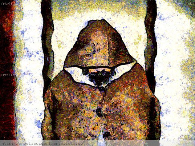El Monje Guardián Lienzo Óleo Retrato