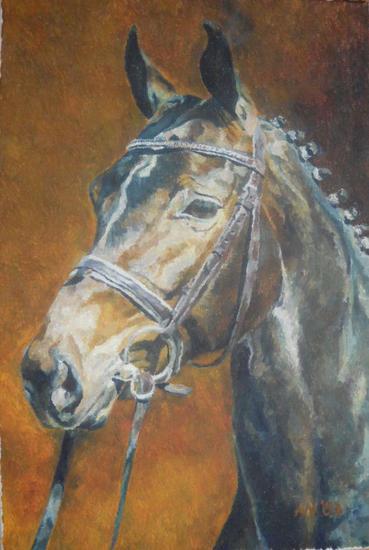 portret konia Lienzo Animales Óleo