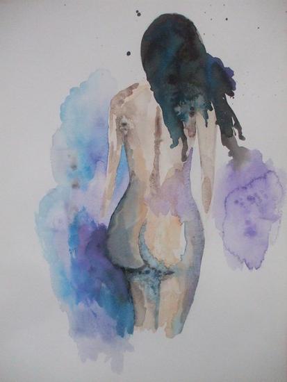 Andromede Papel Acuarela Desnudos