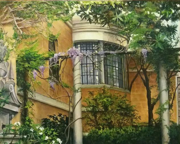 Jardin Museo Sorolla Floral Óleo Lienzo