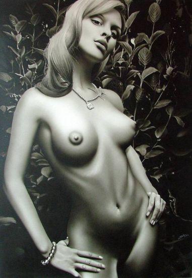 SOBRE GRIS Figure Painting Acrylic Canvas