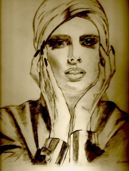 Let me think about it....pencil drawing by shahrzad ranji Otros Lápiz (Negro) Figura