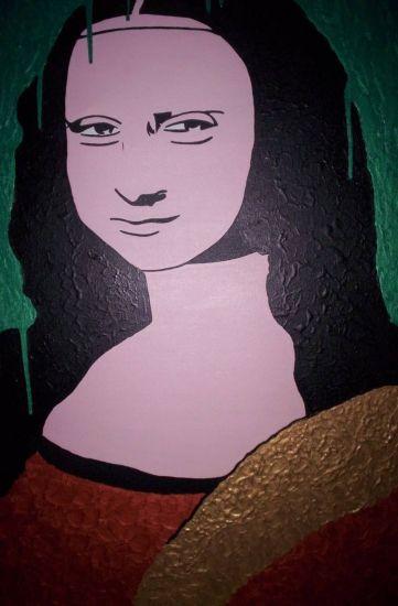 La Mona se llama Lisa Acrílico Lienzo Figura