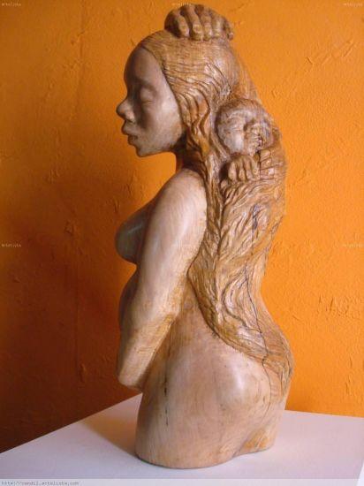 maternidad Madera Figurativa