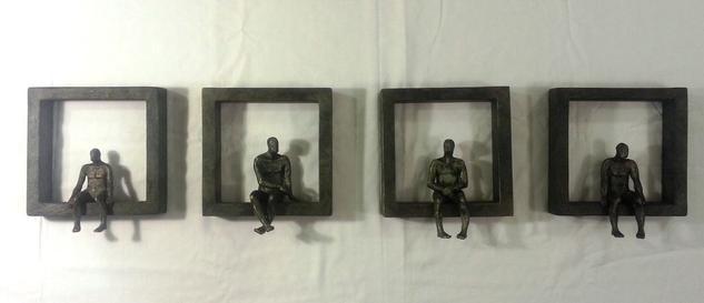conjunto de 4 ventanas. serie: pequeños seres. (a5-6)