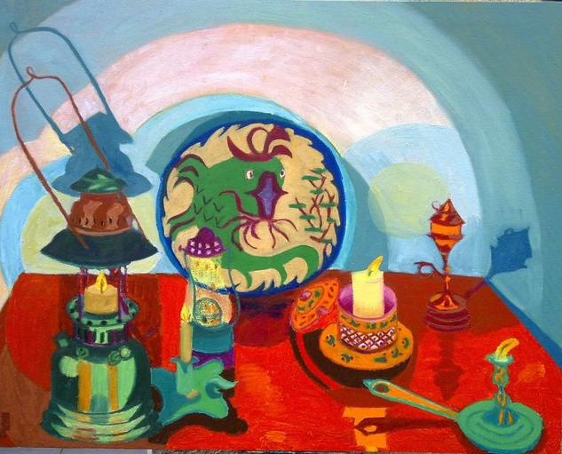 Pez y Quinques Canvas Oil Still Life Paintings