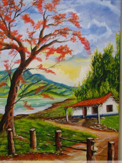 Llama del bosque luis roberto hern ndez alfaro artelista - Paisajes de casas de campo ...