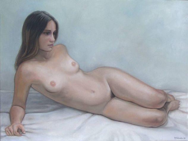 Muchacha desnuda reclinada Lienzo Óleo Desnudos