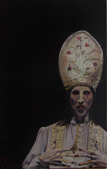 The Pope Retrato Óleo Tabla