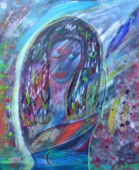 Diosa Efimera Acrylic Canvas Figure Painting