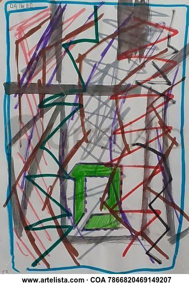 Abstracto 4 Paisaje Media Mixta Cristal