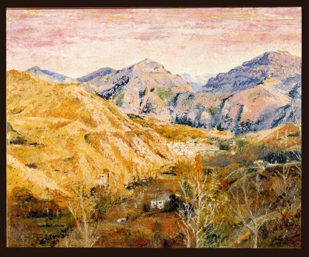 valle de monachil en otoño