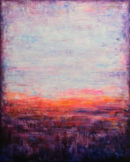 Sunset Paisaje Acrílico Lienzo