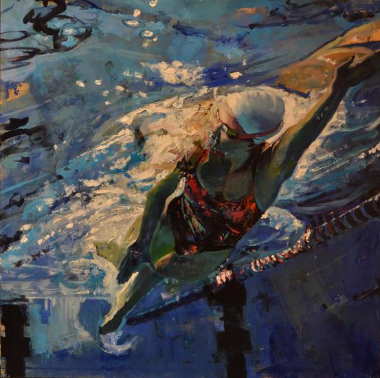 Nadando y entrenando Sports Oil Panel