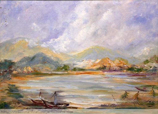 Lagunas de Unare Canvas Oil Landscaping