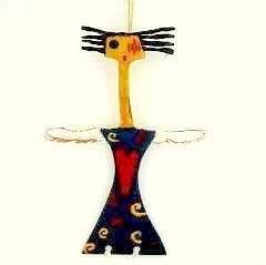 Angel with Heart Wood Figurative