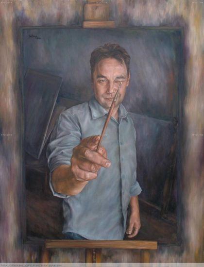 Self portrait Óleo Lienzo Retrato