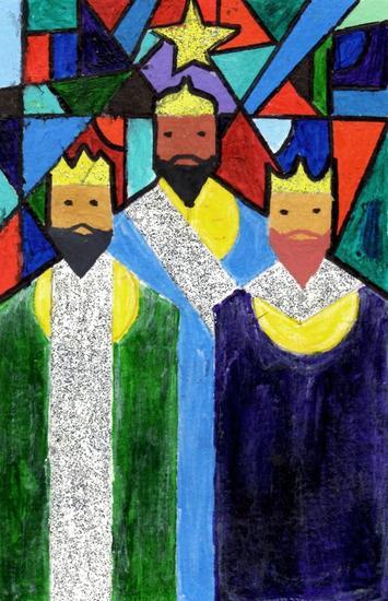 Reyes Magos Acrílico Papel Otros