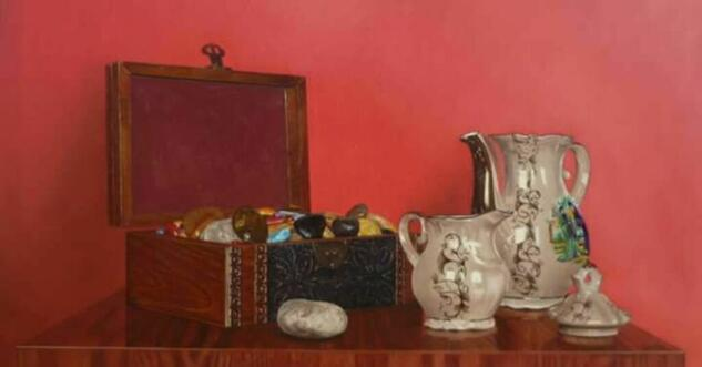 Naturaleza muerta con cafeteras #1 Still Life Paintings Oil Canvas