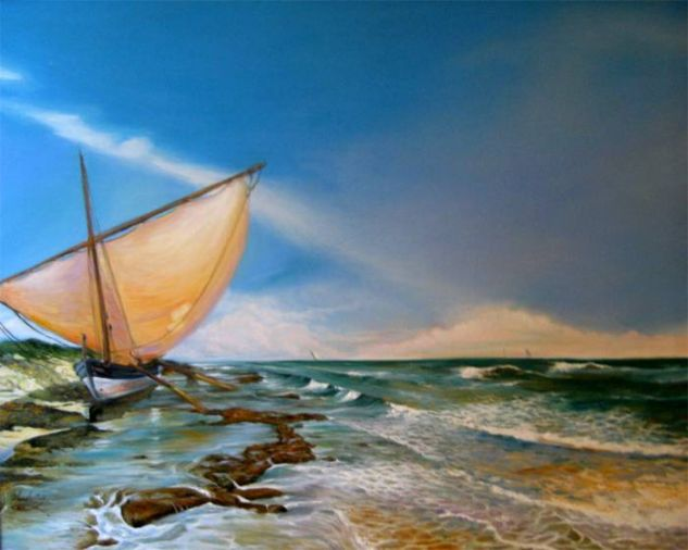 El encanto de Heminguay Óleo Lienzo Marina