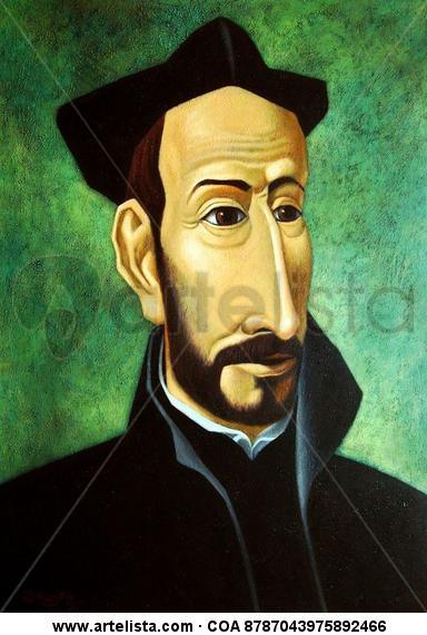 San Ignacio de Loyola Lienzo Óleo Figura