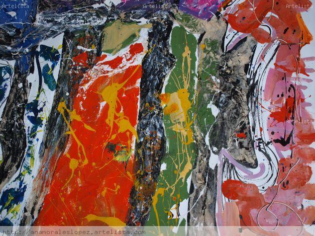 Abstracción 3 Acrylic Canvas Landscaping