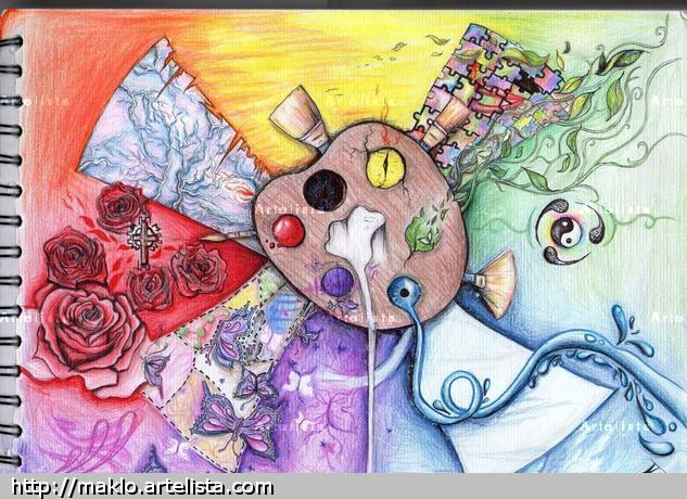 Color palette Papel Otros Lápiz (a color)