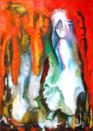 revolte Mixed media Canvas Figure Painting