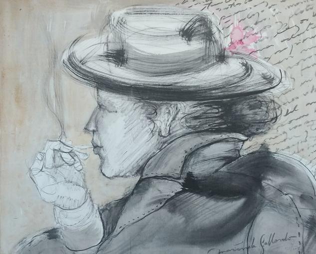 Mujer con sombrero Otros