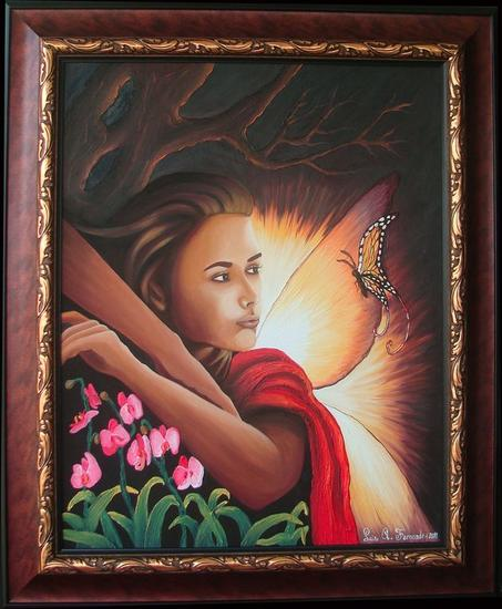 Angel Oil Canvas Portrait