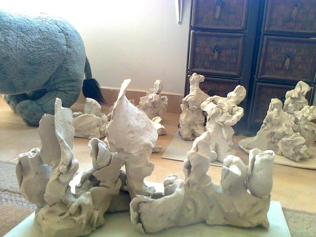 diez nuevos esculturas de barro Cerámica Abstracta