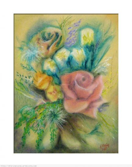 Pintura al pastel sobre cartulina de color antonio farina for Color garbanzo pintura
