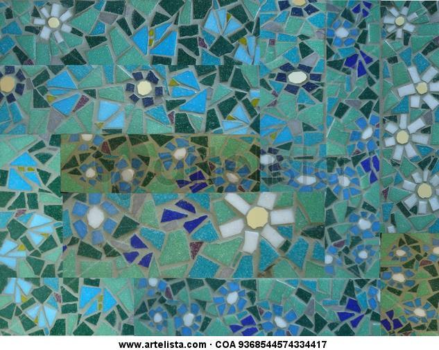 patchwork Otros De vidriera Floral