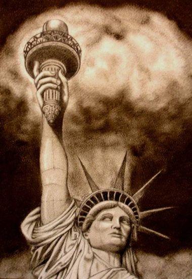 Libertad. Cartulina Lápiz (a color) Figura