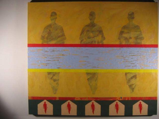 De la serie Quimeras, trashumantes tras el horizonte, Acrílico sobre lienzo 89 x 102. 2007