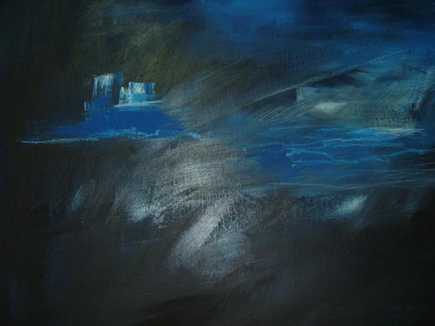Outro pequeno pormenor da mesma obra TORRE DE NÉVOA Mixed media Canvas Figure Painting