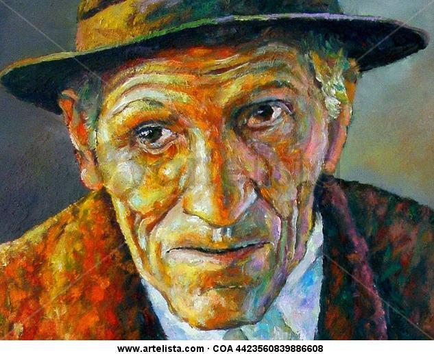 DON EUDORO (Detalle) Retrato Óleo Lienzo