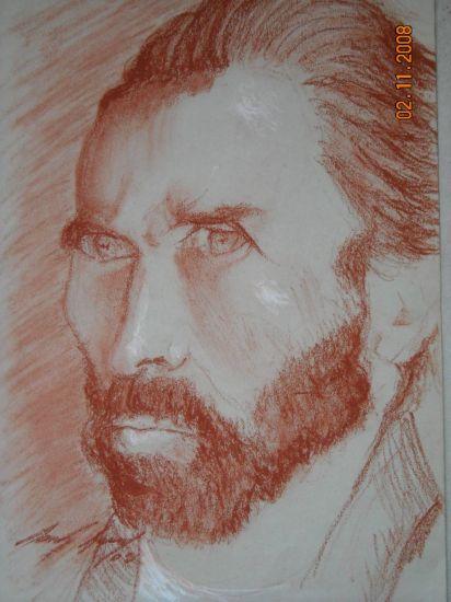 retrato Pastel Papel Retrato