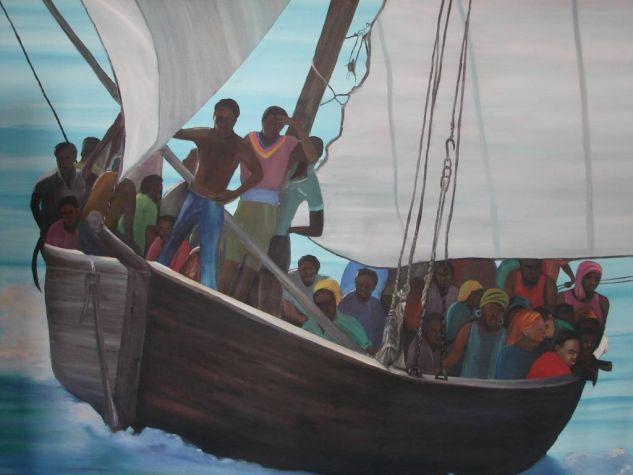 Navegantes Óleo Lienzo Paisaje