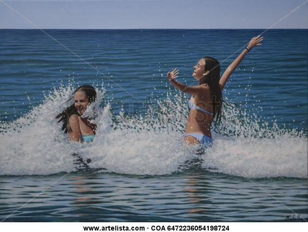 Baño en la playa 2
